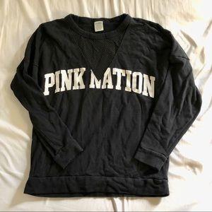 ✨ PINK black sweatshirt